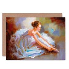 Ballet Zapatos De Baile Pintura Tarjeta con envolvente