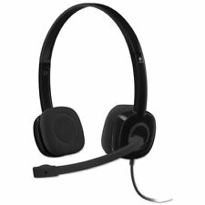 Logitech H151 Binaural Over-the-Head Stereo Headset Black 981000587