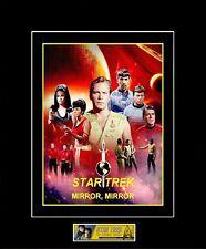 """Star Trek 8"""" x 10"""" Mirror,Mirror Collage Photo - 11"""" x 14"""" Black Matted - New"""