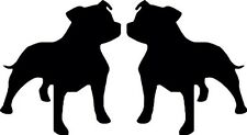 Staffy, Car, Van, Dogs, Truck, Wall, Vinyl, Decal, Sticker, Any Colour, UK Made