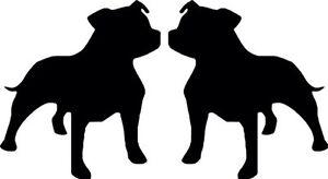 Staffy-Staffordshire-Bull-Terrier-Dog-Car-Van-Pick Up-Truck-Wall-Decal-Sticker.