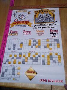 Pittsburgh Penguins, Stoney's Beer, 1998-1999 Hockey Schedule, 14 x 20 Poster