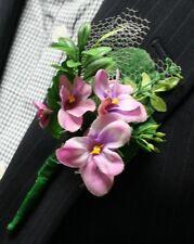 Purple Flowers Boutonniere, Wedding Accessories, Prom