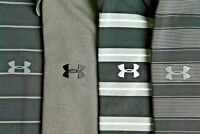 Under Armour Men's lot of 4 black, gray and white HeatGear golf polo shirts XL