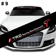 Reflective TRD Windshield Banner Decal Car Sticker for Toyota