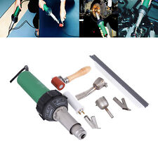 1500W Hot Air Plastic Welding Gun Welder Pistol Kit + 4 Speed Nozzles Roller Rod