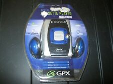 GPX C3127 BIT Blue Ice Cassette Player with AM/FM Radio Personal NEW