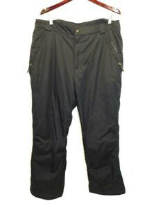 Columbia 1X Black Snow Pants Lined Insulated High Rise Zip Pockets Woman Winter