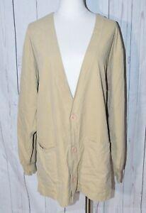 S.C.R.U.B.S. Women's Beige Long Sleeve Scrub Jacket Size L