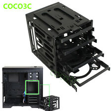 "4 Bays Drives Box For 2.5"" 3.5"" SATA SAS IDE HDD SSD Enclosure Storage Cabinet"