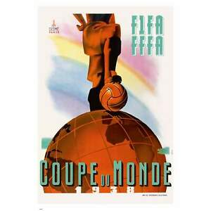 Vintage FIFA World Cup Poster- France 1938