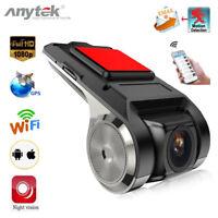 Anytek X28 1080P FHD Grabador de cámara Car DVR WiFi/GPS/ADAS G-sensor Dash Cam