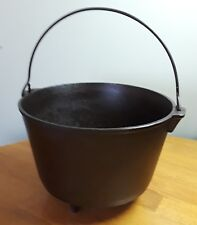 Antique Cast Iron Marked 8 R Cauldron Kettle 3 Legged Peyote Drum w/Bail Handle