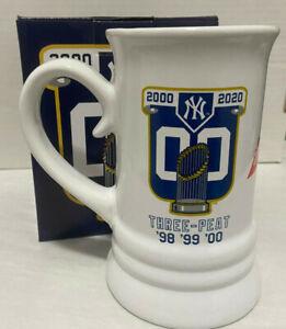 Budweiser New York Yankees 1998 1999 2000 World Series Beer Mug Cup 2021 SGA NY