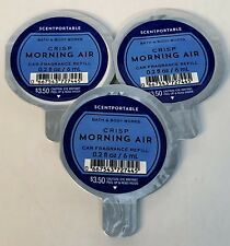 3 Bath Body Works Scentportable CRISP MORNING AIR Refill Discs Car Fresh