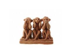 3 Singes de la Sagesse en terre cuite -Statuette des trois Sages NEP15B 3417