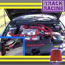 99 00 01-05 PONTIAC GRAND AM OLDSMOBILE ALERO 3.4L V6 COLD AIR INTAKE KIT Red 3p