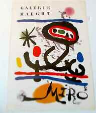 Joan Miro Galarie Maeght Exhibition Mini Poster Offset Litho Unsigned  16X11  pp