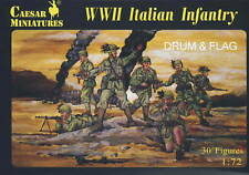 CAESAR 72 - WWII ITALIAN INFANTRY 1/72 SCALE X 30 FIGURES. WW2 ITALIANS