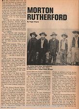 U. S. Marshal Morton Rutherford +OK History & Genealogy