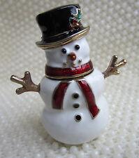 VINTAGE STYLE JONES NEW YORK VICTORIAN CHRISTMAS SNOWMAN TRINKET TREASURE BOX