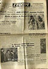 Journal l'Equipe n°2237 - 1953 - Jean Le Guilly - Deledda - Sandeyron - Keenan