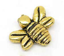 15 GOLD TONE HONEY/BUMBLE BEE CHARMS/SPACER BEADS ~14x12mm~Jewellery~Jams (10B)