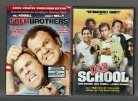Movie Double Feature on DVD ~ Step Brothers & Old School ~ Will Ferrell
