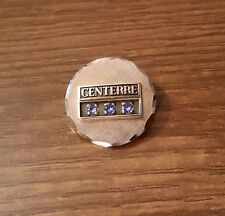 12K Gold with Sapphires Centerre Bank Service Pin