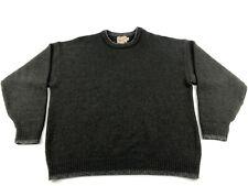 Vintage Woolrich Men's Pullover Sweater Sz Xl Wool Blend Made in Usa Green
