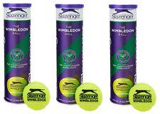 12 Tennisbälle Slazenger Wimbledon Tennis Bälle für Alle Spielflächen Balls NEU