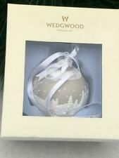 Wedgwood Round Ball Shaped Sleigh Ride Christmas Ornament,Taupe/White w/ Box