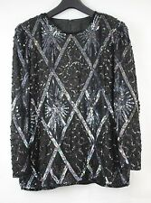 Urban Outfitters Lovely 80s Vintage Sequinned  Party Xmas Christmas Top