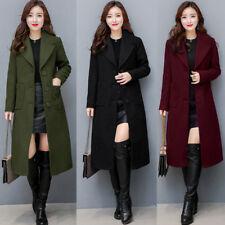 Womens Ladies Winter Warm Slim Long Coat Jacket Parka Outwear Wool Overcoat