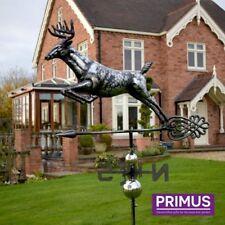 Primus 3D Ciervo De Acero Inoxidable jardín veleta con estaca Veleta