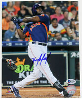 YORDAN ALVAREZ SIGNED AUTOGRAPHED 8x10 ASTROS PHOTO BECKETT ROOKIE BAS R27752