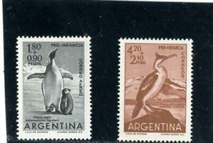 Argentina 1961 Birds Scott# B30, CB29 Mint LH