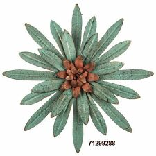 Rustic Turquoise Flower Metal Wall Decor