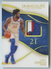 Joel Embiid 2019 20 immaculate collection 76ers game worn 3 color patch 11/21
