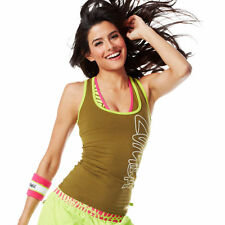 NWT Zumba Cut Me Crazy Racerback, go for GREEN  size Large Tank Cami NEW!!