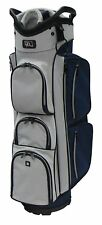 "RJ Sports EL-680 True Cart Bag, 9.5"", Navy/Grey"