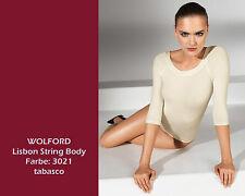 Wolford Lisbon String Body • L • tabasco dunkelrot • außen verführerischer Glanz