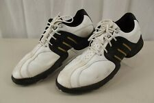 Adidas Mens Golf Shoes 10.5 White Lace Up Leather