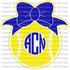 Custom Softball Monogram Vinyl Decal 2 Colors Your Initials Bow on Ball Sticker