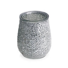 Mosaic Silver Crackle Bathroom Tumbler Tooth Brush Holder Bath room Accessories