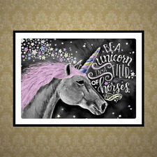 DIY 5D Diamond Unicorn Embroidery Painting Cross Stitch Craft Office Home Decor