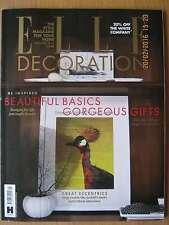 Elle Decoration January 2016 Beautiful Basics Gorgeous Gifts Individual Interior