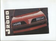 N°8964 / catalogue PONTIAC J 2000 mars 1981    Canada