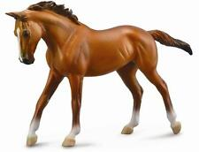 *NEW* DELUXE 1:12 SCALE CHESTNUT THOROUGHBRED MARE HORSE MODEL by COLLECTA 88635