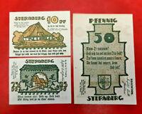 STERNBERG REUTERGELD NOTGELD 10, 25, 50 PFENNIG 1922 NOTGELDSCHEINE (13140)